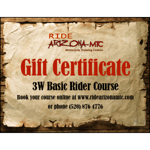 Ride Arizona MTC 3W Basic Rider Course gift certificate (image)