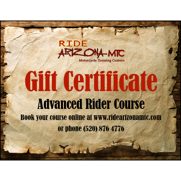 Ride Arizona MTC Advanced Rider Course gift certificate (image)