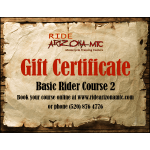 Ride Arizona MTC Basic Rider Course 2 gift certificate (image)