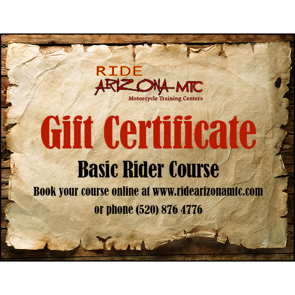 Ride Arizona MTC Basic Rider Course gift certificate (image)