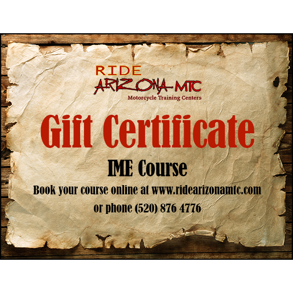 Ride Arizona MTC IME Course gift certificate (image)